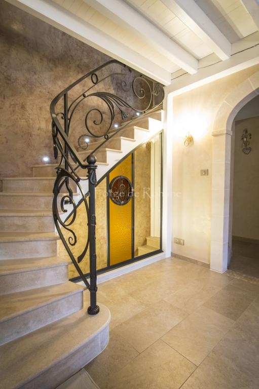 Wrought Iron Stair Handrails La Forge De Rohane